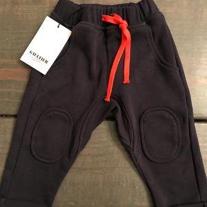 Gaultier Bebe: Junior Gaultier Navy Pants Sz 6 mo
